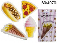 Eraser, Fast Food & Ice Cream, ca. 15 cm, 4 ass., ...