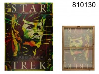 Canvas, cinema poster Star Trek, linen on wooden ...