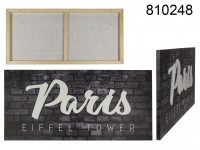 3D canvas print, Paris, Linen on wooden frame, ...