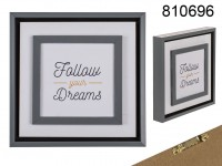 Wooden sign, Follow your Dreams, approx. 20 cm, ...