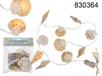 Light chain garland, shells, with 9 warmwhite ...
