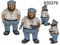 Polyresin Figurine, Sailor with pipe, approx. 12 ...