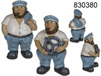 Polyresin Figurine, Sailor with pipe, approx. 8 x ...