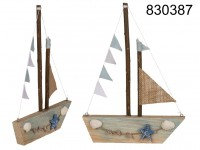 Nature Coloured Wooden decoration boat, Maritim, ...