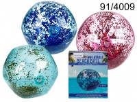 Inflatable Beach Ball with holographic Glitter, ...