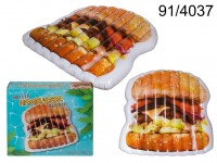Hamburger Pool Float, approx. 159 x 174 x 21 cm, ...