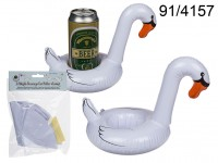 Inflatable beverage can holder, Swan, ca. 18 cm, ...