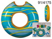Inflatable swim ring, Blue Donut, D: ca. 119 cm, ...
