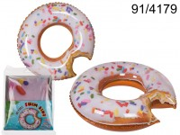 Inflatable Donut Swim Ring, approx. 102 x 100 x ...