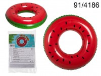 Inflatable swim ring, Watermelon, D: ca. 82 cm, ...