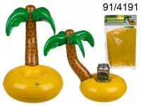 Inflatable Drink Holder, Palm Tree w. Island, ...