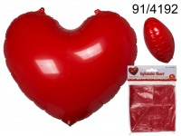 Inflatable heart, ca. 110 x 90 cm, in packaging ...