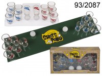 Drinking game, Shots Pong, with 2 balls, play ...