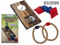 Drinking game, 2 in 1 Bag & Ring Toss, ca. 15 x ...