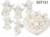 Polyresin angel with pearl, ca. 5 cm, 12 ass., 96 ...
