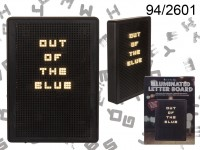 Illuminated letter board with plastic frame & ...
