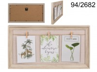 Natural coloured frame, Clothes Line, with 3 mini ...