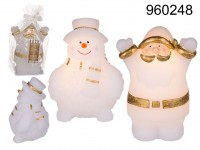 Santa Claus & Snowman assorted, with led (incl. ...