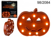 IlIuminated pumpkin with 10 LED, ca. 25,8 cm, ...