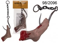 Horror foot on hook, ca. 67 cm, plastic, in ...