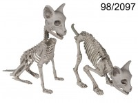 Halloween figure, Cat Skeleton, 2 ass., ca. 32 ...