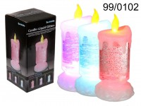 Plastic candle, Liquid Glitter, with ...